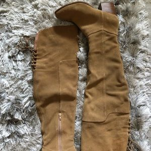 Aldo Jeffers natural Suede over the knee boot 7.5